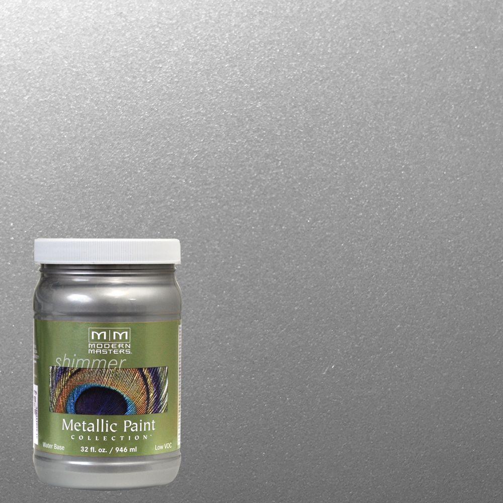 1 qt. Platinum Water-Based Satin Metallic Interior/Exterior Paint