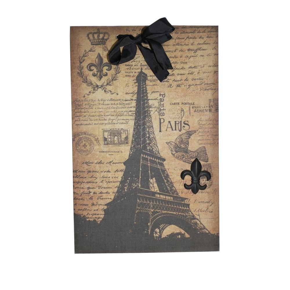 Eiffel Tower Script Magnet Memo Board