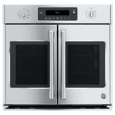 30 in. Single Electric Smart French-Door Wall Oven Self-Cleaning with Convection and WiFi in Stainless Steel