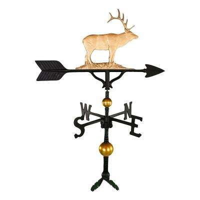 32 in. Deluxe Gold Elk Weathervane