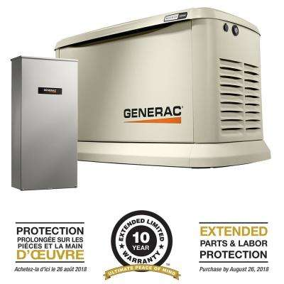 22,000-Watt Air Cooled Standby Generator with Whole House 200 Amp Automatic Transfer Switch