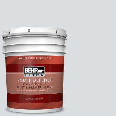 5 gal. #N540-1 Script White Extra Durable Flat Interior Paint and Primer in One