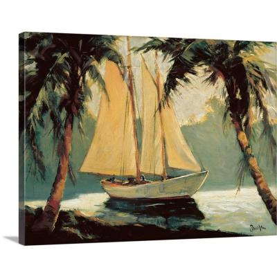 "24 in. x 18 in. ""Sailboat, Santa Barbara"" by  Frederick Alexander Pawla Canvas Wall Art"