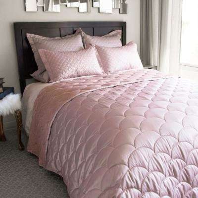 Nikki Chu Rose Gold Twin Down Alternative Blanket