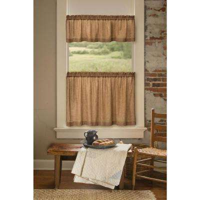Semi-Opaque Homespun 84 in. L Polyester Valance in Natural