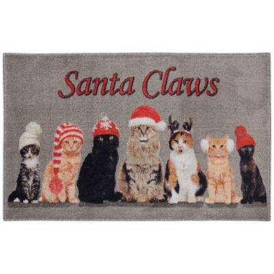 Santa Claws Multi 2 ft. 6 in. x 4 ft. 2 in. Area Rug