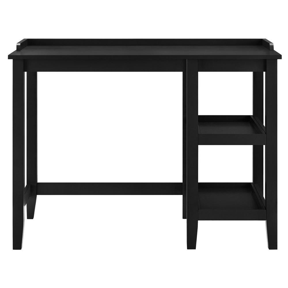 Ameriwood Farhurst Black Single Pedestal Desk HD06169
