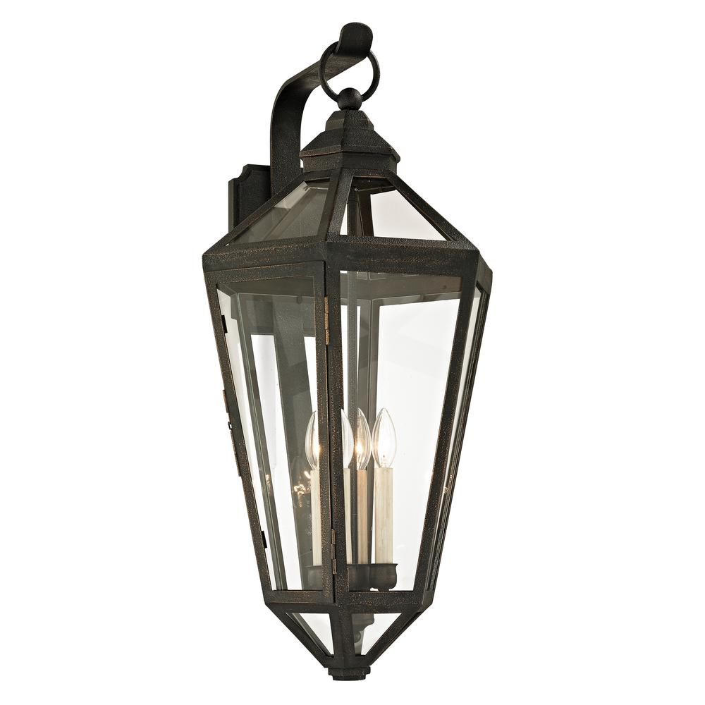 Calabasas 4-Light Vintage Bronze 33 in. H Outdoor Wall Mount Sconce