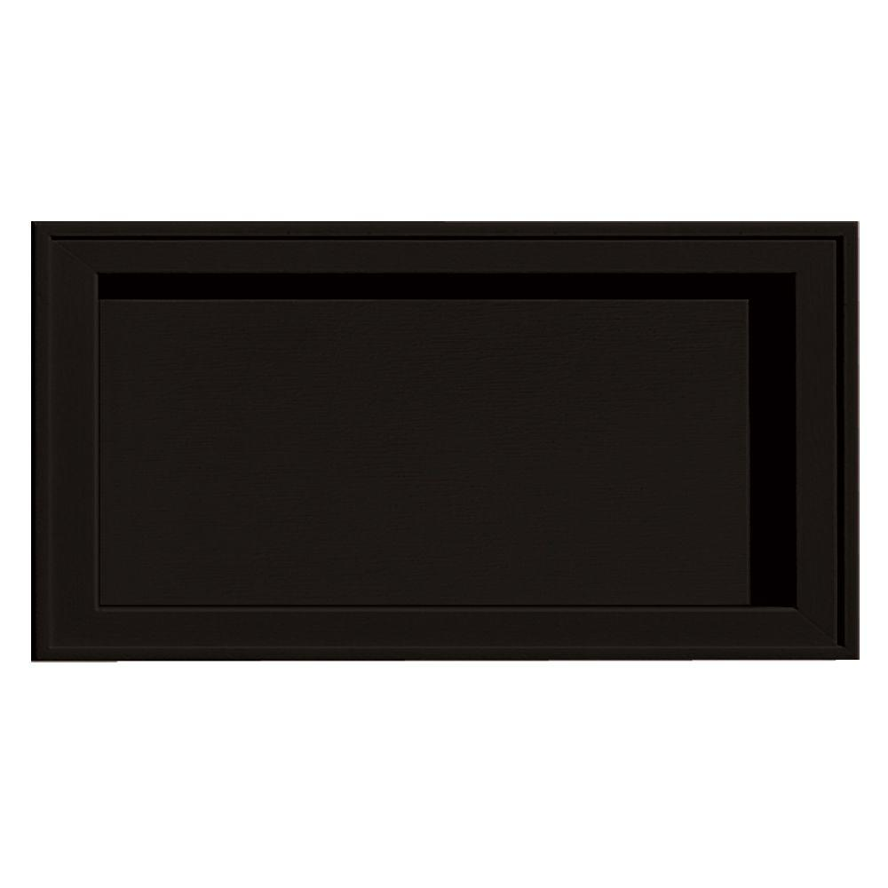 Builders Edge Recessed Jumbo Mounting Block #002-Black