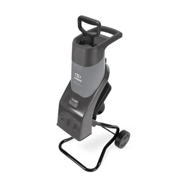 1.5 in. 15 Amp Electric Wood Chipper/Shredder, Gray