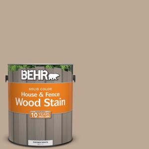 Behr 1 Gal 700d 4 Brown Tee Solid Color House And Fence Exterior Wood Stain 01101 The Home Depot