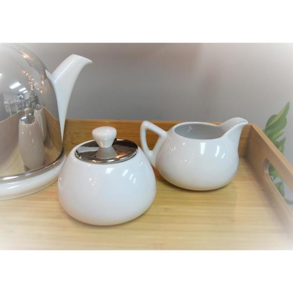 Bredemeijer Spring White Cosy Manto Creamer And Sugar Set 1530w The Home Depot
