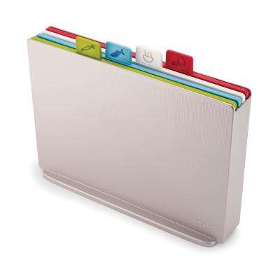 Index Large Silver 4-Piece Polypropylene Cutting Board Set