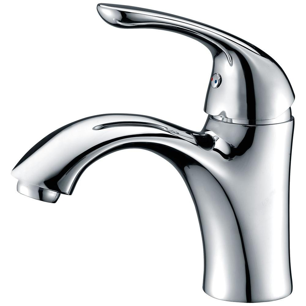 Clavier Series Single Hole Single-Handle Mid-Arc Bathroom Faucet in Polished