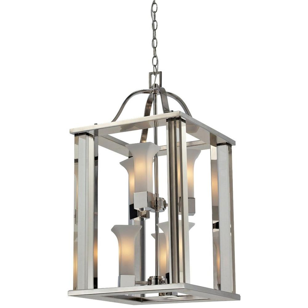 Filament Design Lawrence 6-Light Chrome Incandescent Ceiling Pendant