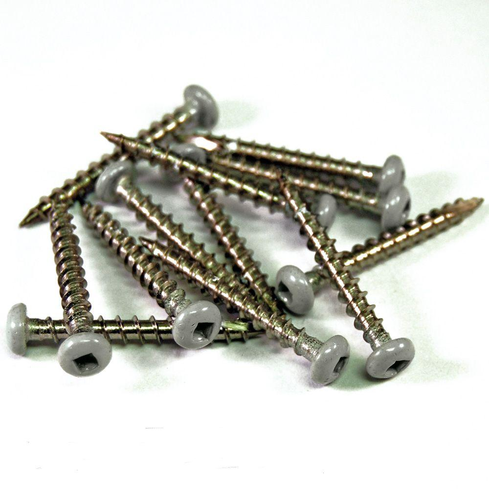 Veranda 1-1/2 in. Stainless Steel Nantucket Gray Screws (12-Piece/Bag)