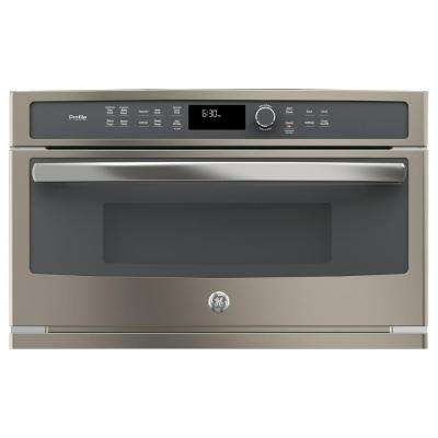 30 in. Electric Convection Wall Oven with Built-In Microwave in Slate