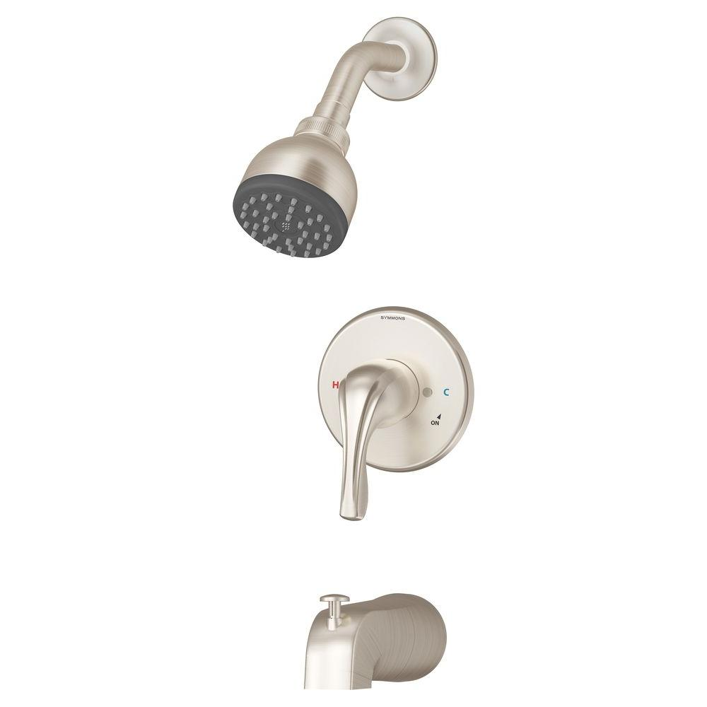 Symmons Origins Temptrol Single-Handle 1-Spray Tub and Shower Faucet in Satin Nickel (Valve Included)