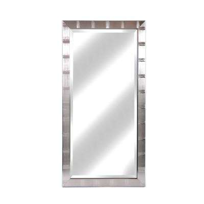 Christopher 22 in. x 42 in. Silver Lined Beveled Mirror