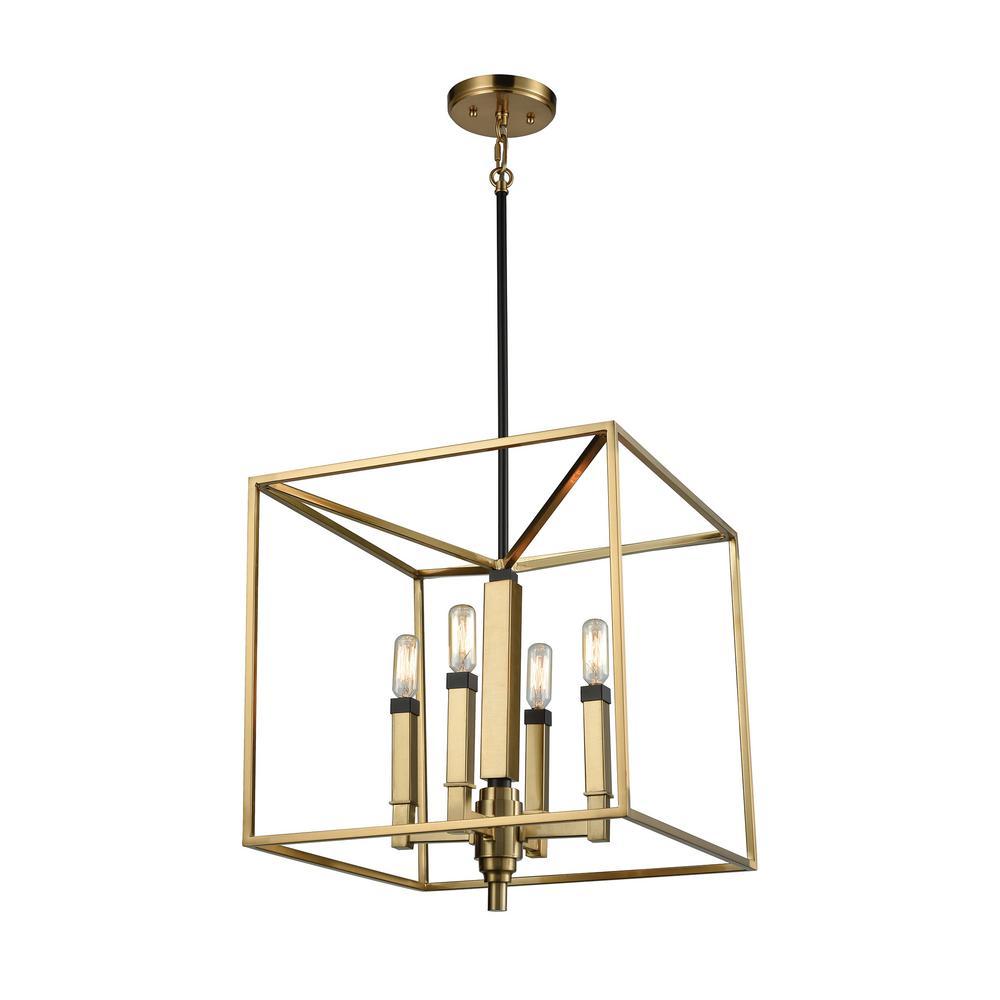 Titan Lighting Mandeville 4 Light Satin Brass With Oil