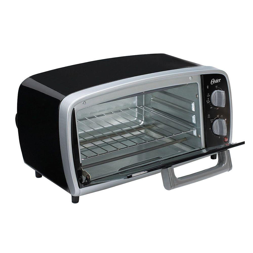 Oster 4-Slice Black Toaster Oven