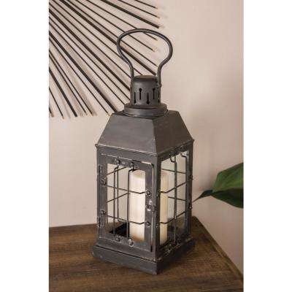 Black Rectangular Candle Lantern