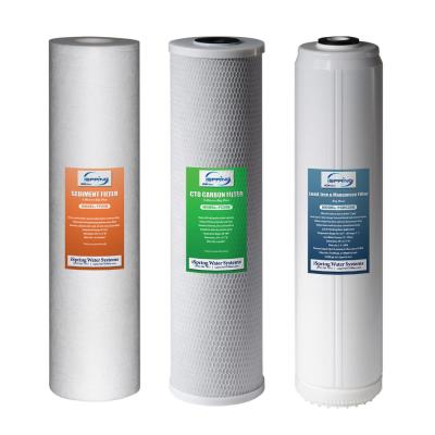 3-Stage 20 in. Whole House 3-Piece Replacement Filter Pack - Fits WGB32B-PB