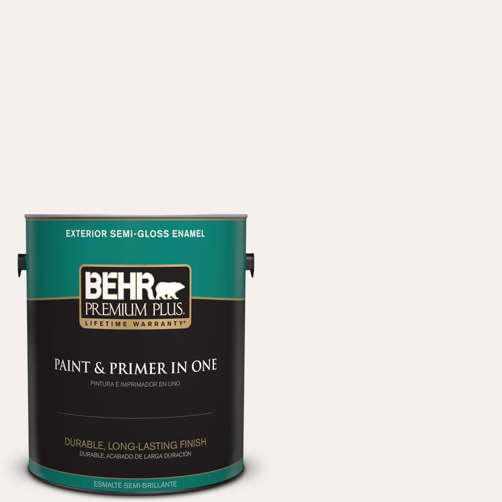 1-gal. #W-B-600 Luster White Semi-Gloss Enamel Exterior Paint