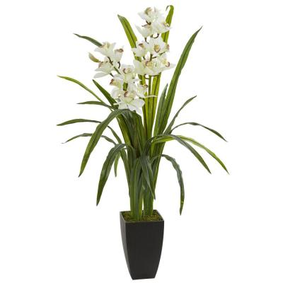 Indoor 39 in. Cymbidium Orchid Artificial Plant