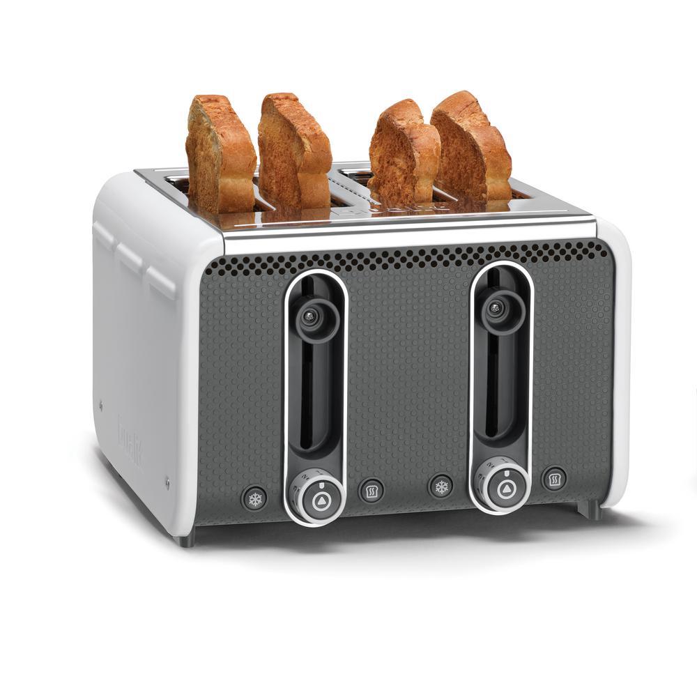 Studio 4-Slice White Toaster with Crumb Tray