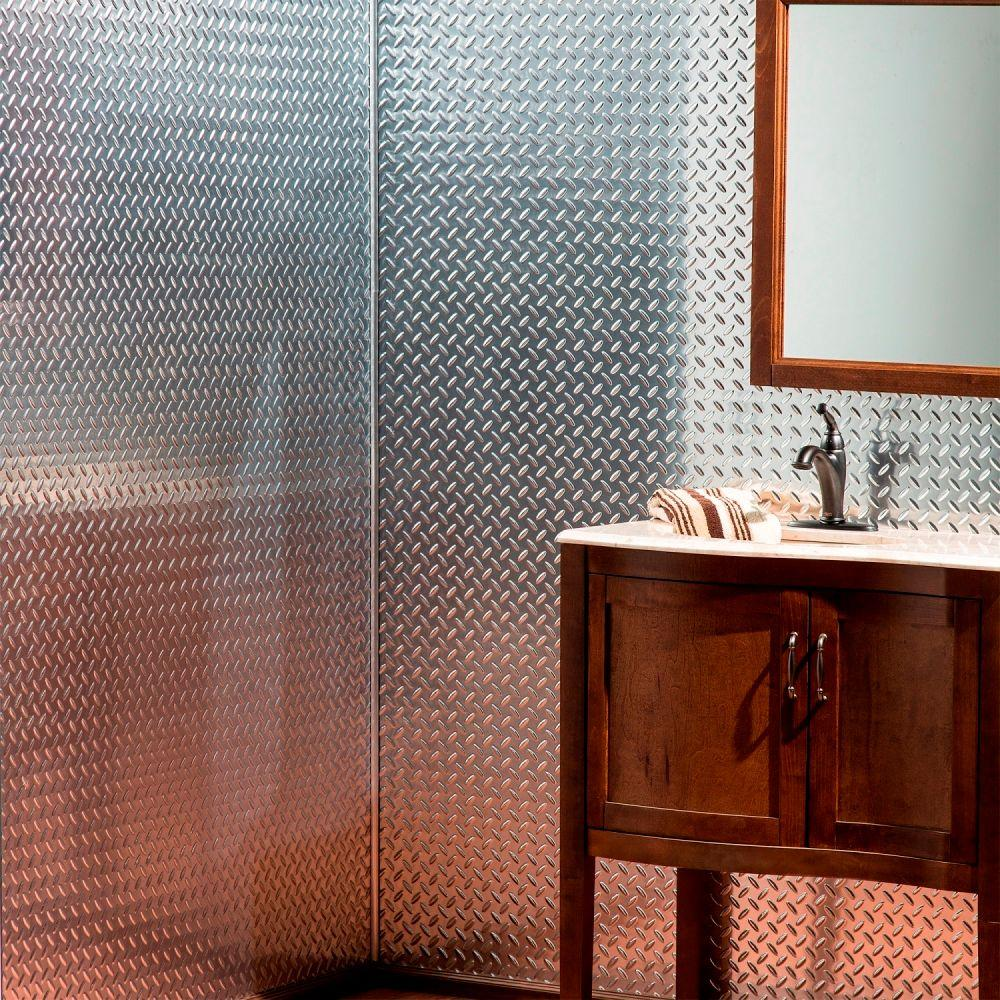 Metallic Wall Paneling : Fasade diamond plate in w h d