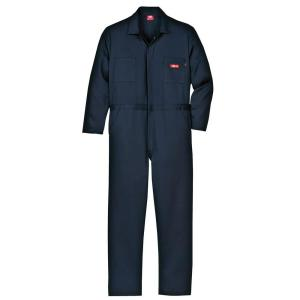 Dickies Men's XX-Large Navy Flame Resistant Long Sleeve Coverall by Dickies
