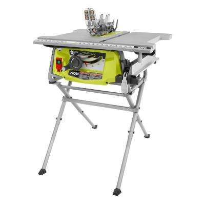 15 Amp 10 in. Table Saw with Folding Stand