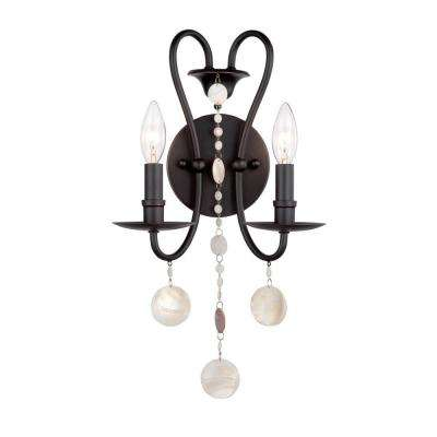 Matira Collection 2-Light Oil Rubbed Bronze Sconce