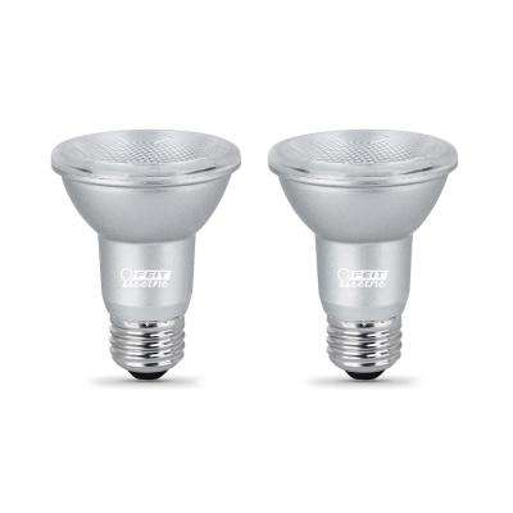 50-Watt Equivalent PAR20 Dimmable CEC Title 24 LED ENERGY STAR 90+ CRI Flood Light Bulb, Bright White (2-Pack)