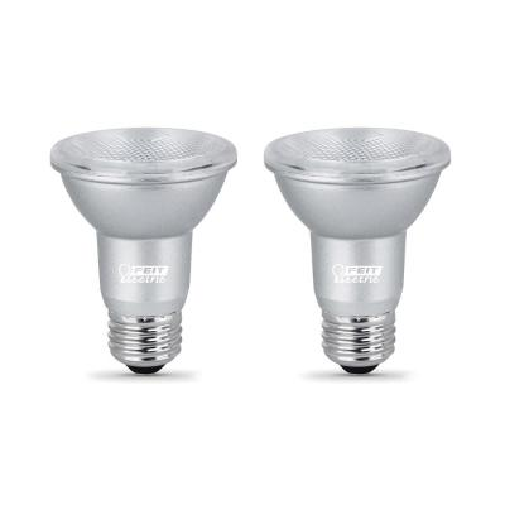 50-Watt Equivalent PAR20 Dimmable CEC Title 24 Compliant LED ENERGY STAR 90+ CRI Flood Light Bulb, Bright White (2-Pack)
