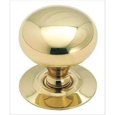 Allison Value 1-1/4 in. (32 mm) Dia Polished Brass Cabinet Knob
