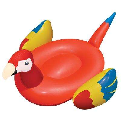 93 in. x 76 in. Red Giant Ride-On Parrot Pool Float