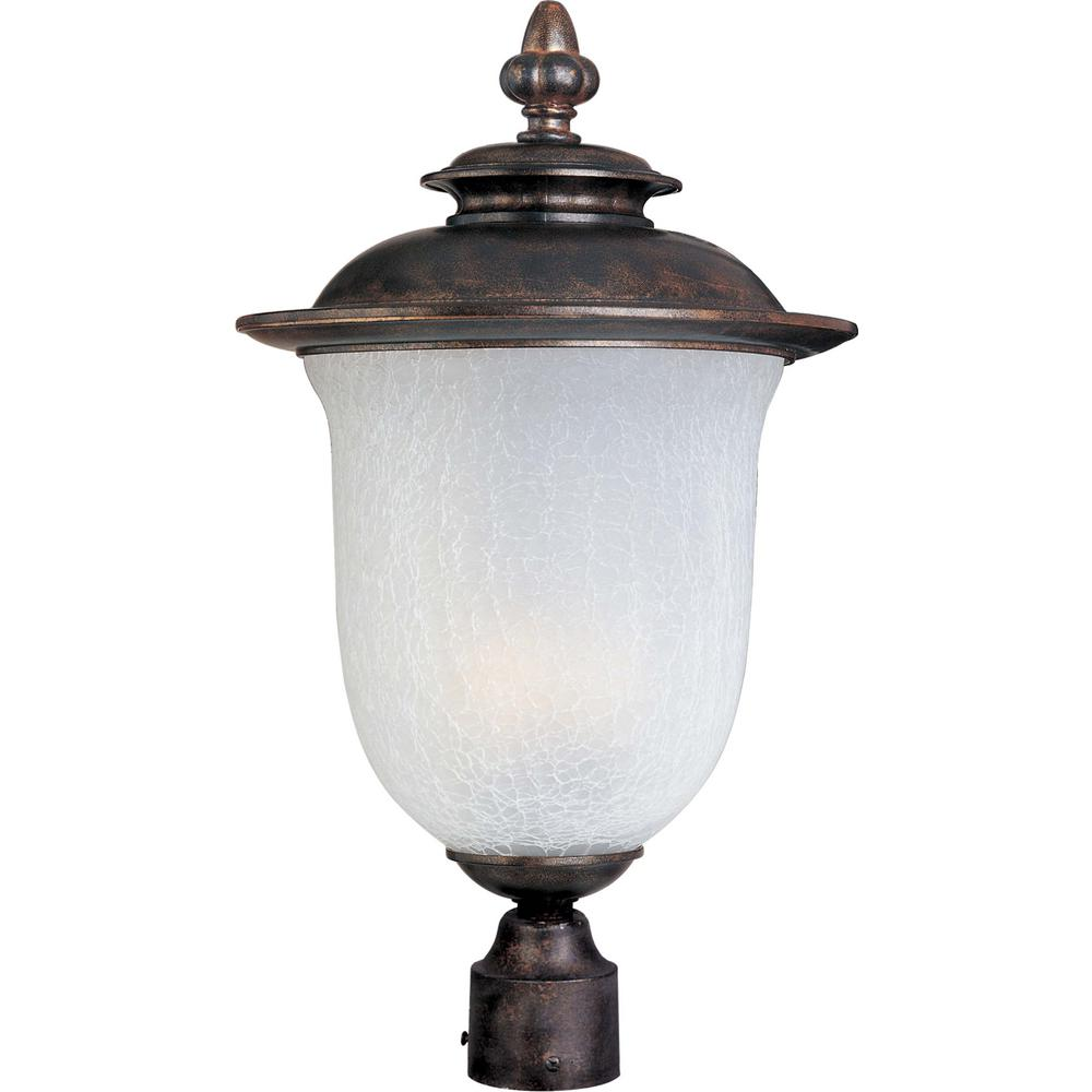 Maxim Lighting Cambria 13 In Wide 1 Light Outdoor Chocolate Post
