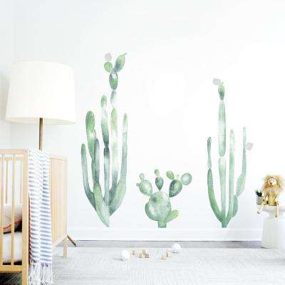 Green Large Cacti Wall Decal