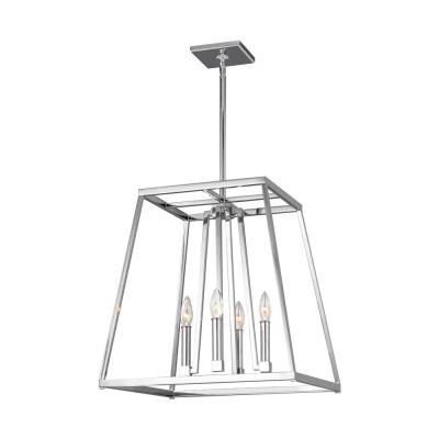 Conant 4-Light Chrome Chandelier