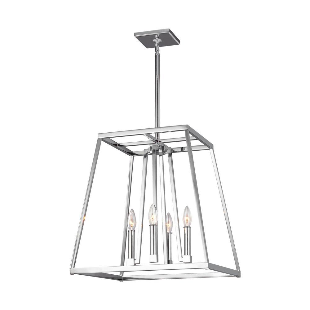 Conant 4-Light Chrome Chandelier