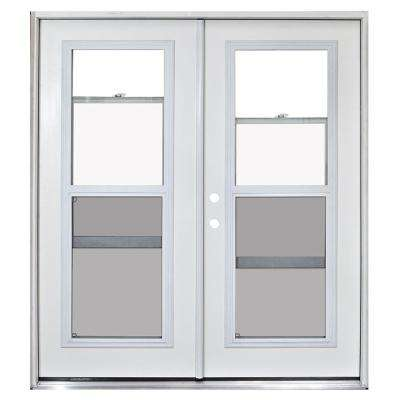 72 in. x 80 in. Fiberglass Primed White Prehung Right-Hand Inswing Venting Patio Door