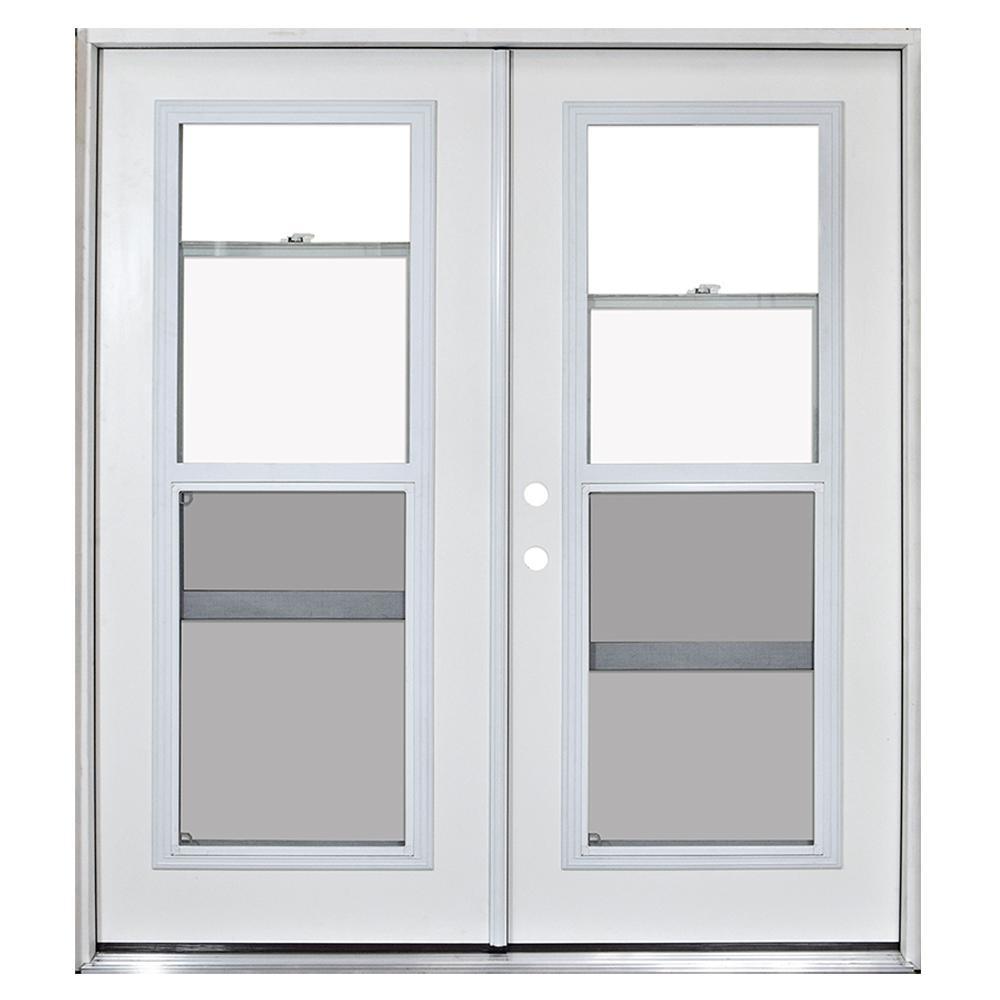 Home Depot Exterior French Doors: Steves & Sons 72 In. X 80 In. Fiberglass Primed White