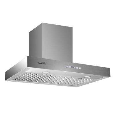 30 in. European style Kitchen Wall Mount with LED Light in Stainless Steel Touch Control Range Hood