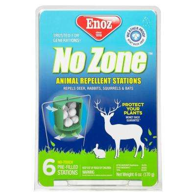 No-Zone Animal Repellent Stations (6-Pack)