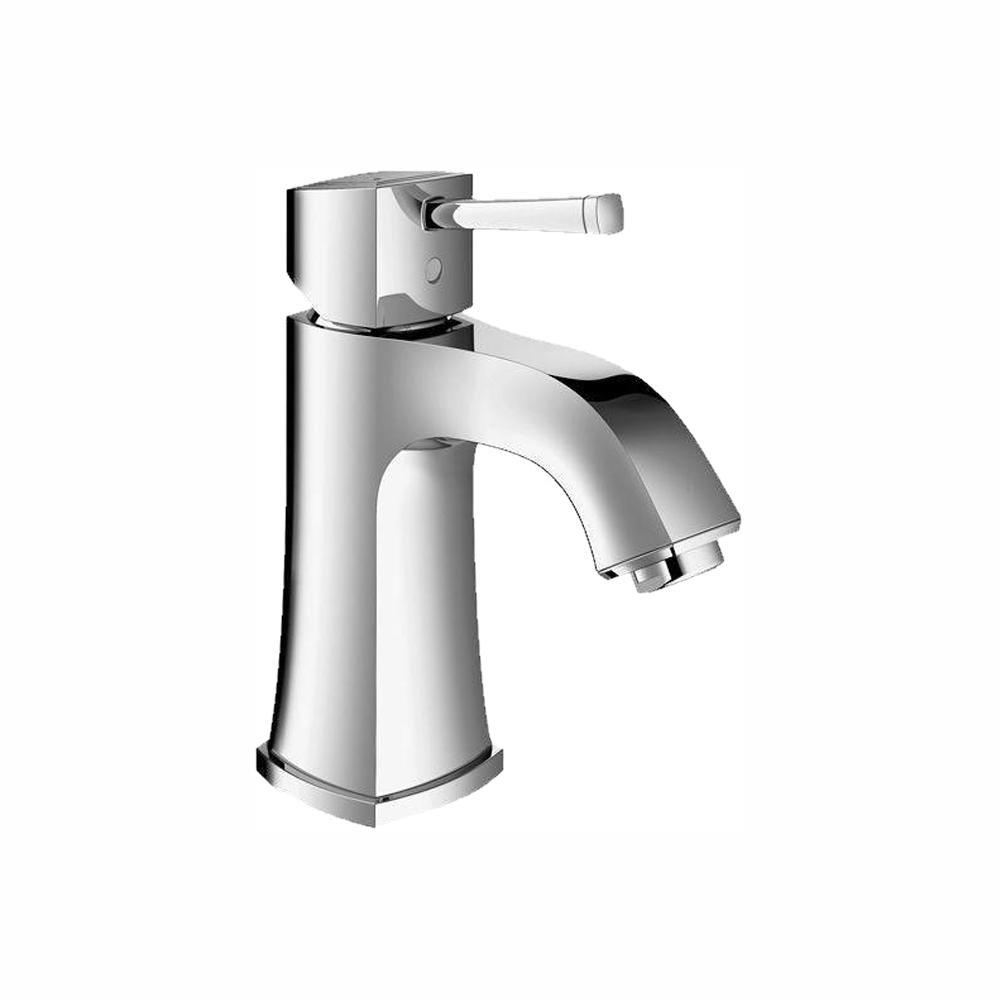 Grandera Deck-Mount 4 in. Centerset Single Hole Single-Handle Low Arc Bathroom Faucet in StarLight Chrome
