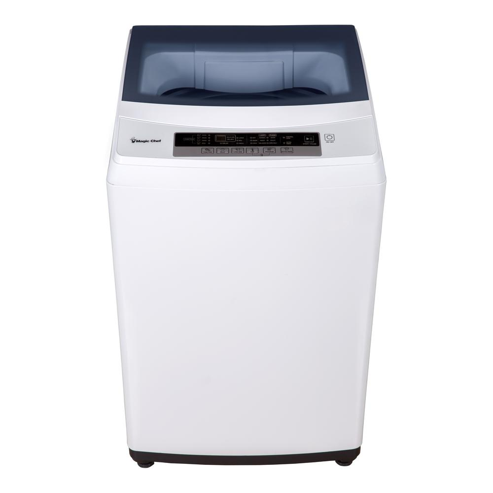 2.0 cu. ft. Compact Top Load Washing Machine in White, Portable