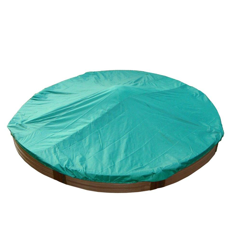 Frame It All 12 in. High Circular Sandbox with Cover-DISCONTINUED