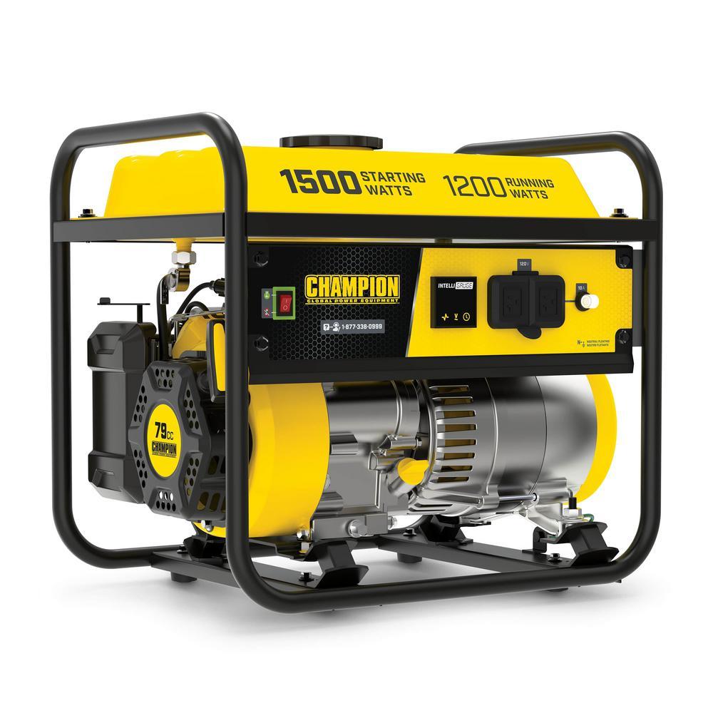 1500/1200-Watt Gasoline Powered Recoil Start Portable Generator